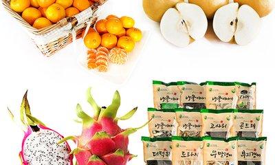 새콤달콤영양가득 입맛살리는과일 건나물 모음전!