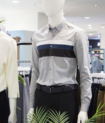 몸판가로블럭슬림셔츠