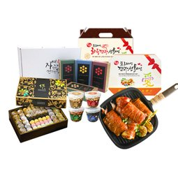 2018 선물세트 과일/금쌀/견과 떡/차/갈비 세트
