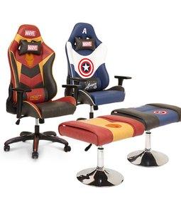 편안한 홈앤오피스 이디고 인기용품 마블 프리미엄 레이싱 게이밍 의자에 앉아서 전승해요