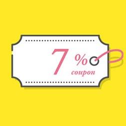 이메일/SMS/APP 수신 동의 시 최대 7% 4종 쿠폰 받기
