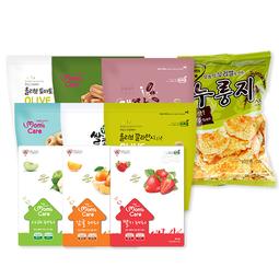 프로엠 친환경스낵 유기농,무농약 으로 구성된스낵