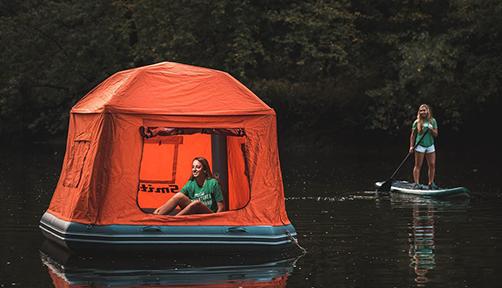 둥둥 뜨는 텐트