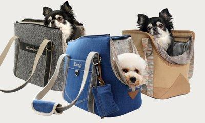 [완두콩맘] 핸드메이드 강아지이동가방