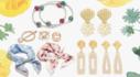 봄의 향연 특별한 순간 스카프 진주 귀걸이