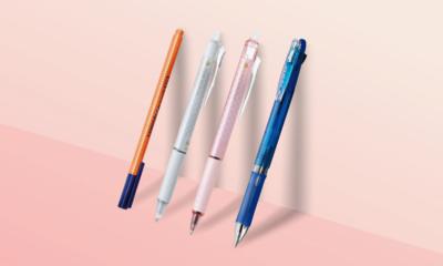 책상 위 기분 좋은 펜 사용해보세요