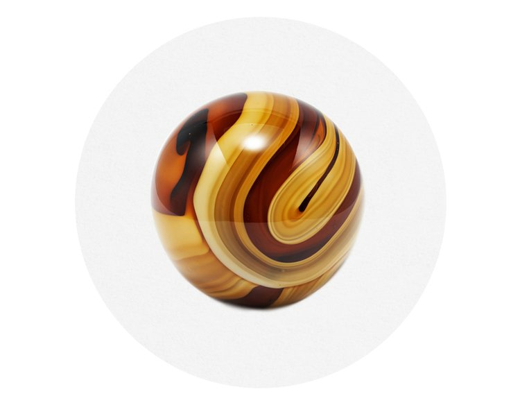 HAY RO Glass Paper Weight Ø10 Amber