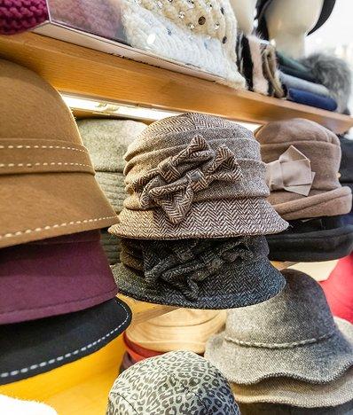 더블 리본 벙거지 모자