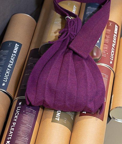 [조셉앤스테이시] Lucky Pleats Knit Warm Crossbag S Melange Purple