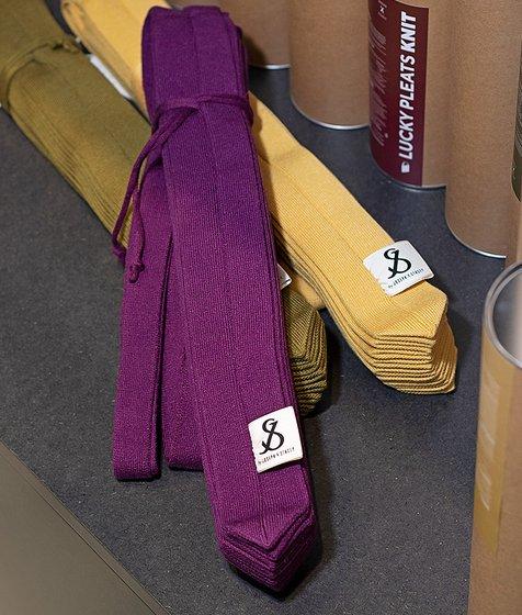 [조셉앤스테이시] Lucky Pleats Knit Warm Crossbag M Melange Purple