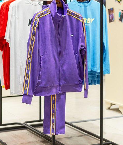 널디 Logo Tape Track Set Purple