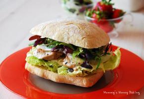 닭가슴살 샌드위치