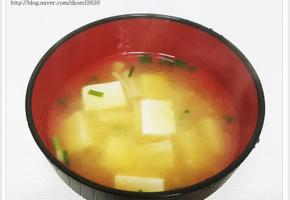 [간단한 국요리] 미소된장국 만드는 법 일본된장국