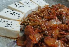 초간단 술안주 두부김치~*