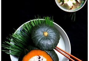 담백한 두부장국과 단호박밥