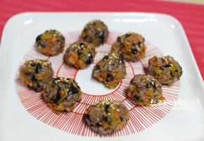 김밥재료 주먹밥
