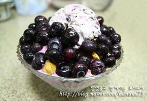 직접 만들어 더 맛있는 블루베리 아이스크림빙수