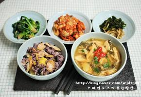 인삼 시래기국과 영양밥, 인삼넣은 겨울보양식 시래기국과 영양밥