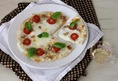 두유치즈크림소스 또띠아 피자