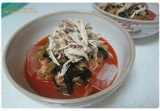 닭고기열무비빔국수