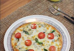 바질 페스토 피자