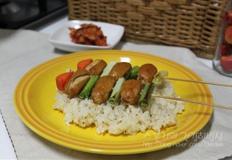 비엔나소시지 꼬치마늘밥 만들기