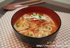 김치어묵우동 끓이기