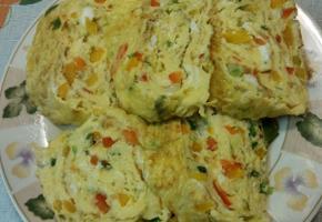 *삼색 파푸리카 계란말이* 비스틈이썰어서 푸짐해 보입니다