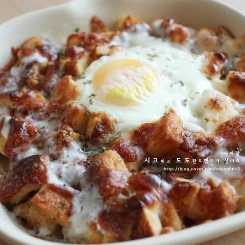 남은식빵활용 - 카라멜식빵 달콤 바삭