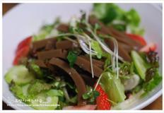 다이어트에도 좋고 손님상차림에 올려도 넘 예쁜 도토리묵과 샐러드~~도토리묵 야채샐러드/잡
