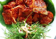 [삼겹살요리]매콤 고추장삽겹살과 부추겉저리