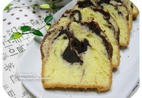 어떤 모양이 숨어있을까?? 코코아 마블 파운드 케이크