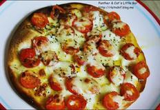 [진정초간단!]이것이 초간단이다! 갈릭토마토또띠아 피자