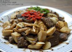 쇠고기버섯 스테이크
