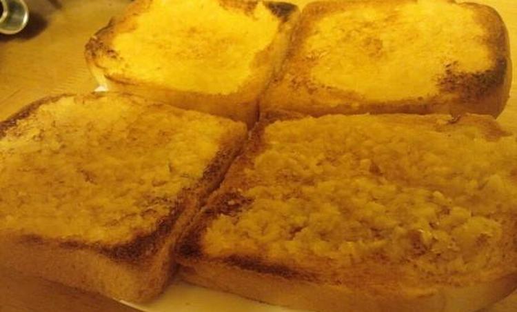 식빵이 많아서 만든 마늘빵
