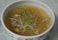 칡 콩나물국 끓이기