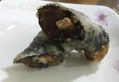 남은 잡채를 활용한 김말이튀김