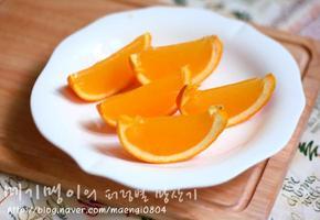 상콤향긋 맛있는 오렌지 젤리