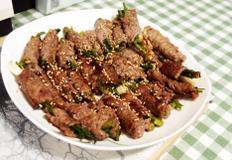 #3대천왕 말이고기만들기 #샤브샤브용고기를 이용해서 미나리, 쪽파넣고 돌돌 말아서 구워 먹는 색다른 고기구이!!!
