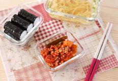 오징어 초무침과 충무김밥