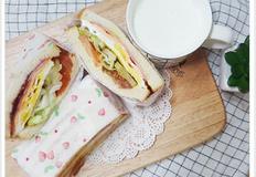 [샌드위치만들기]햄야채치즈샌드위치 만들기