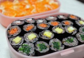 흑김 참치김치 꼬마김밥