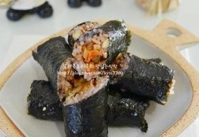 낙지젓갈 김치볶음밥 &낙지젓갈 꼬마김밥 -냉장고속 남은 재료 활용요리