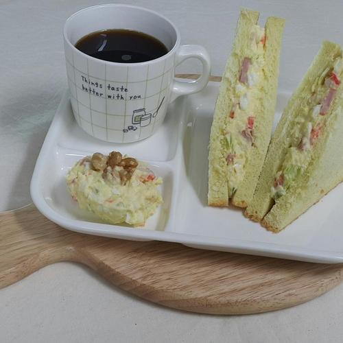 고소한 감자 계란 샐러드 샌드위치~*