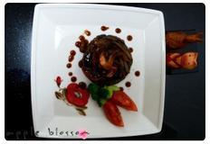[다이어트식]양송이 소스를 곁들인 검은콩 스테이크
