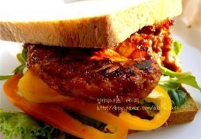 닭고기 바비큐 샌드위치