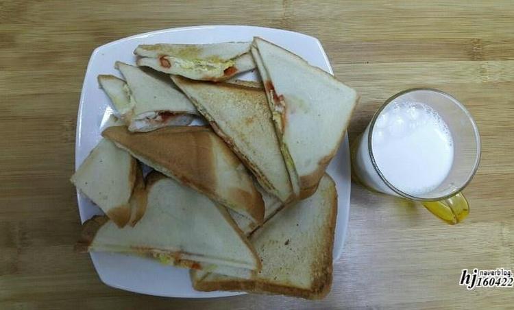 간식 만들기 :: 간식 메이커 활용 토스트 만들기