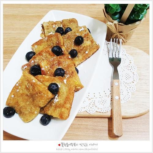 [간단아침메뉴]커피프렌치토스트 만들기
