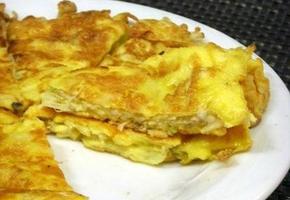 간단한 팽이버섯 달걀부침