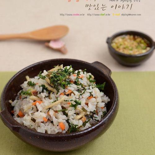 냉이밥 만들기